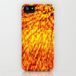Golden Pixel Wind iPhone Case