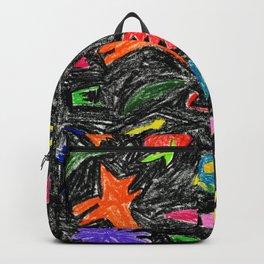 oil pastel pattern Backpack