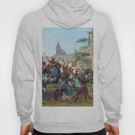 Carnival In Rome 1860 By Fyodor Bronnikov | Reproduction | Romanticism Painting Hoody