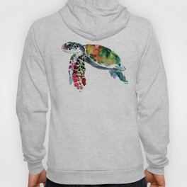 Sea Turtle Olive green, Sage green, Purple Turtle artwork Hoody