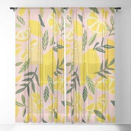Lemon Blooms – Blush Palette Sheer Curtain