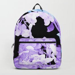 Hydrangea Branches On A Black Background #decor #buyart #society6 Backpack