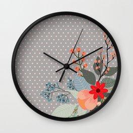 Flowers bouquet #8 Wall Clock