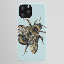 Realistic Bumble Bee Drawing iPhone Case