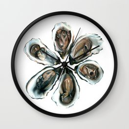 Oysters on the Half Shell Wall Clock