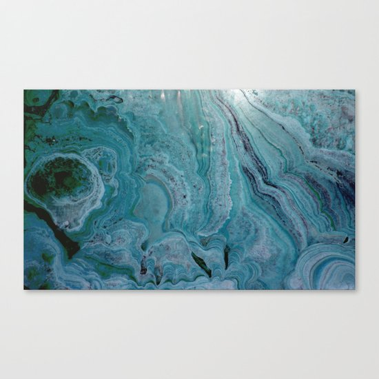 Blue stalactite Canvas Print