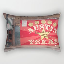 Live Music Capital of the World Rectangular Pillow