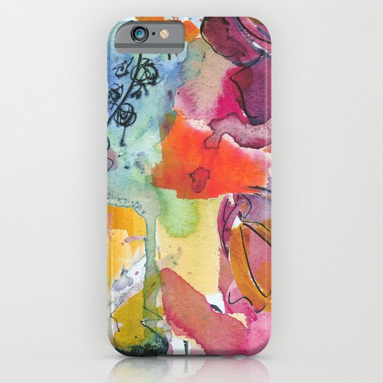 Abstract floral watercolour iPhone & iPod Case