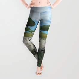 greener pasture Leggings