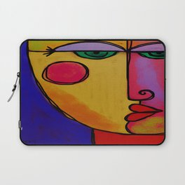 Colorful Abstract Face Digital Painting Laptop Sleeve