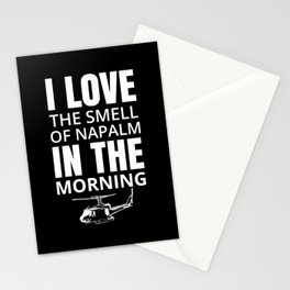 I love the smell of Napalm in the morning Stationery Cards