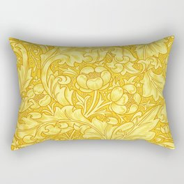 Yellow Bachelors Button by William Morris Rectangular Pillow