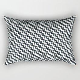 Massaging Kitties Houndstooth Pattern Rectangular Pillow