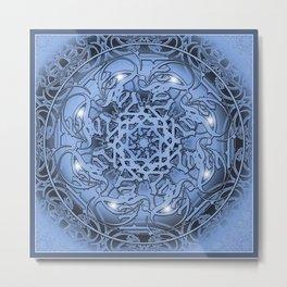 Christmas Mandala Metal Print
