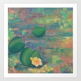 Water pond in India Art Print