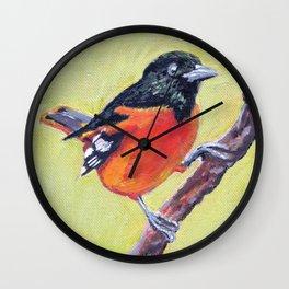 Baltimore Oriole Wall Clock