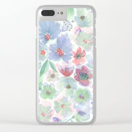 Around the World Flowers - Vintage Clear iPhone Case