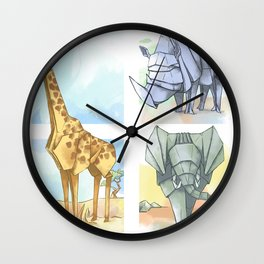 African Origami Wall Clock