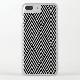 Triangle in Diamonds. Clear iPhone Case