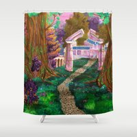 warcraft Shower Curtains featuring Welcome in Darnassus by Studinano by Shou'