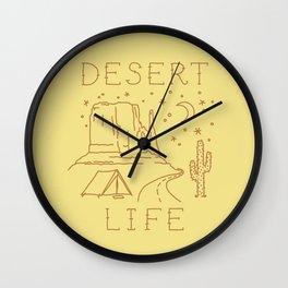 Desert Life - color Wall Clock