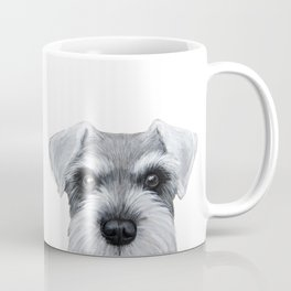 Schnauzer Grey&white, Dog illustration original painting print Coffee Mug