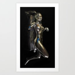 TeshaSilver Art Print