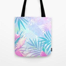 Pastel Rainbow Tropical Paradise Design Tote Bag