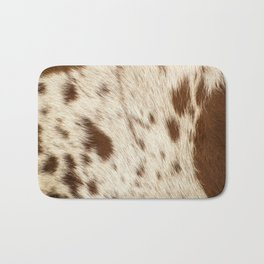 Pattern of a Longhorn bull cowhide. Bath Mat
