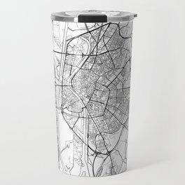 Seville Map White Travel Mug