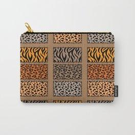 Wild Cat Safari Jungle Print in Tan Carry-All Pouch