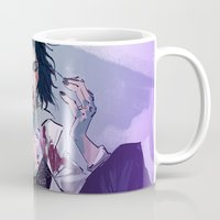 mia wallace Mugs featuring Mia Wallace by Azahara Blue