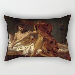 "Theodore Gericault ""A Roman general in his bedchamber"" Rectangular Pillow"