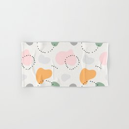 Contemporary modern ethnic abstract art background. Colorful circles and stamp spots with dots, Mili Hand & Bath Towel