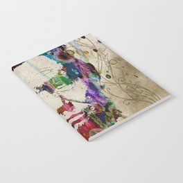 Abraham Lincoln Watercolor Modern Abstract GIANT PRINT ART Notebook