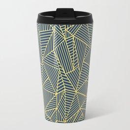 Ab Lines Gold and Navy Travel Mug