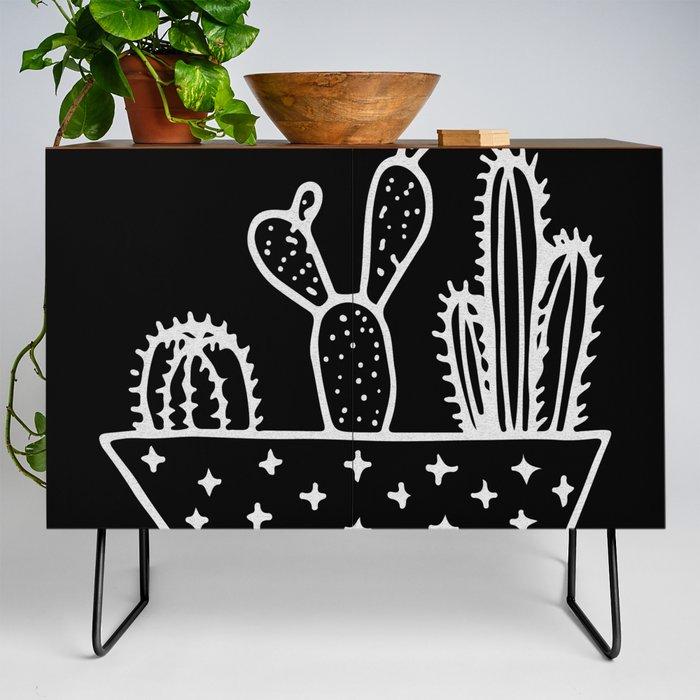 Cactus_Planter_Gray_on_Black_Credenza_by_Nature_Magick__Black__Walnut