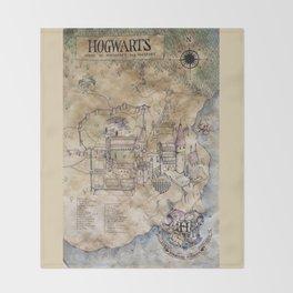 Hogwarts Map Throw Blanket