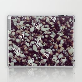 charcoal seashell pattern Laptop & iPad Skin