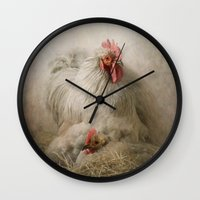 valentine Wall Clocks featuring Valentine by Pauline Fowler ( Polly470 )