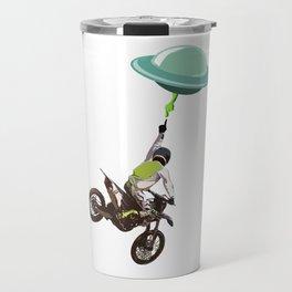 Motocross alien Travel Mug