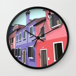 Burano houses Wall Clock