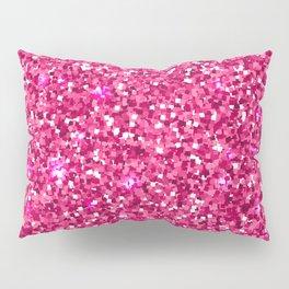 Hot Pink Glitter Pillow Sham