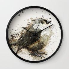 Tufted Titmouse Bird Splatter Wall Clock