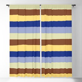 lumpy or bumpy lines abstract and summer colorful - QAB277 Blackout Curtain
