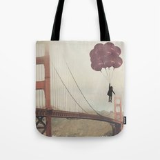 Floating over the Golden Gate Tote Bag