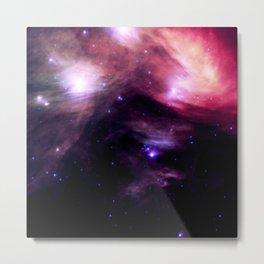 Galaxy : Pleiades Star Cluster nebUlA Purple Pink Metal Print