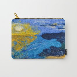 Sunset Bay Needle Felted Landscape Carry-All Pouch