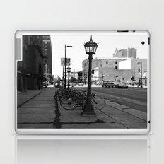 B&W City with Bikes Laptop & iPad Skin
