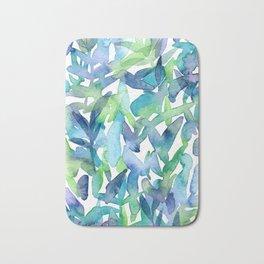 Foliage in Cool Tones Bath Mat